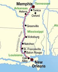 Map-Of-the-Lower-Mississippi-River